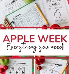 Apple Week: PreK-1st Grade Apple Themed Resources - Simply September [ 1102 x 735 Pixel ]