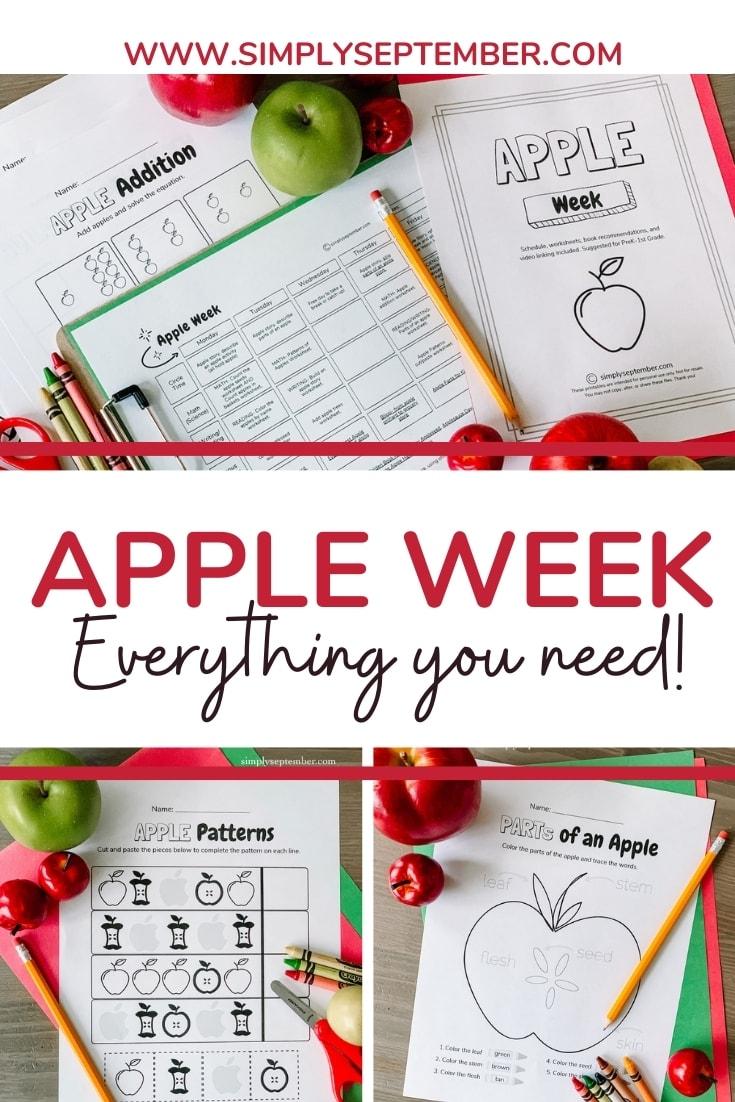 medium resolution of Apple Week: PreK-1st Grade Apple Themed Resources - Simply September