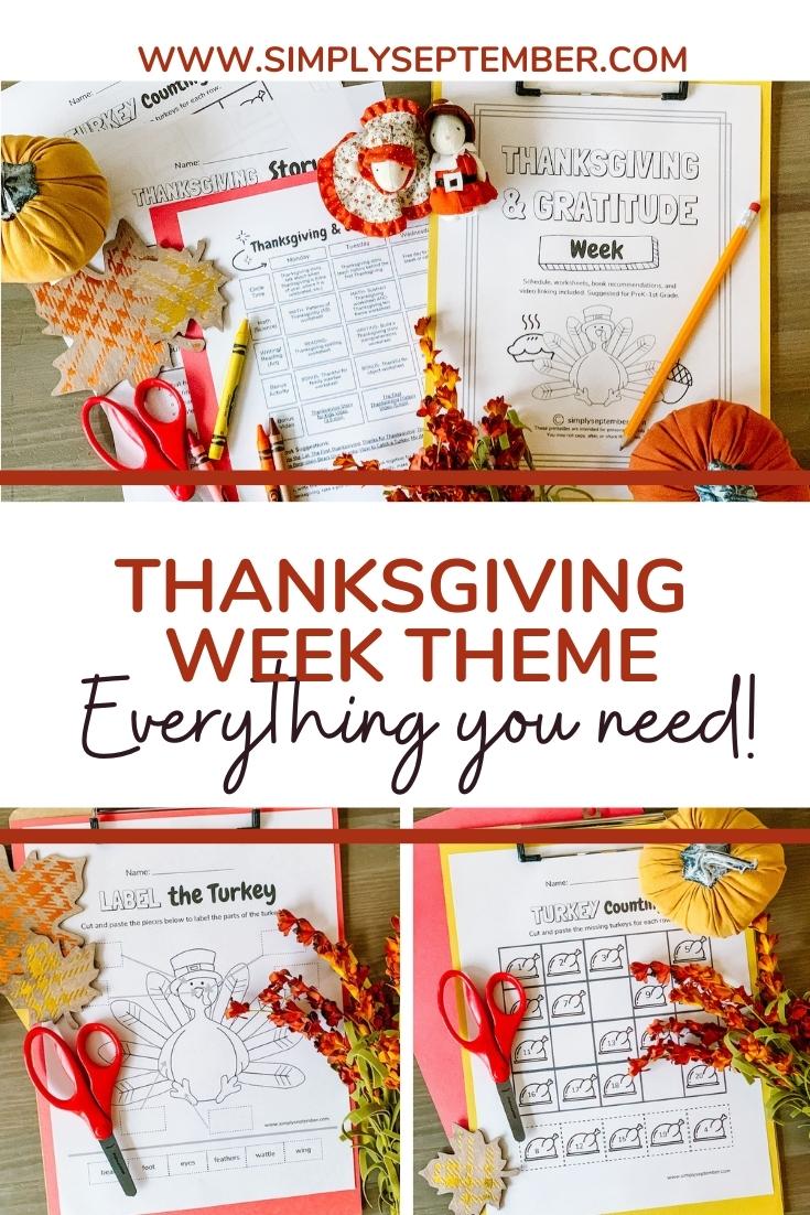 hight resolution of Thanksgiving \u0026 Gratitude Week(s): PreK-1st Grade Themed Resources - Simply  September