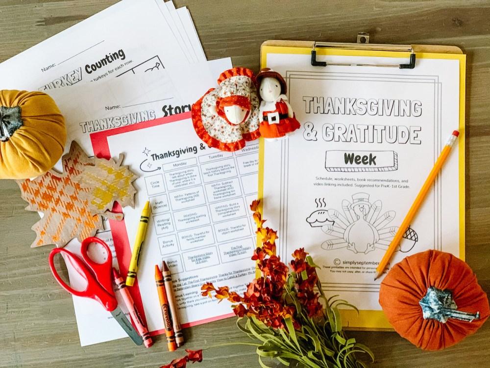 medium resolution of Thanksgiving \u0026 Gratitude Week(s): PreK-1st Grade Themed Resources - Simply  September