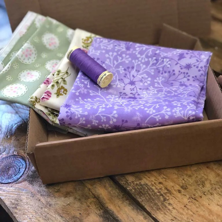 purple fabric subscription box example