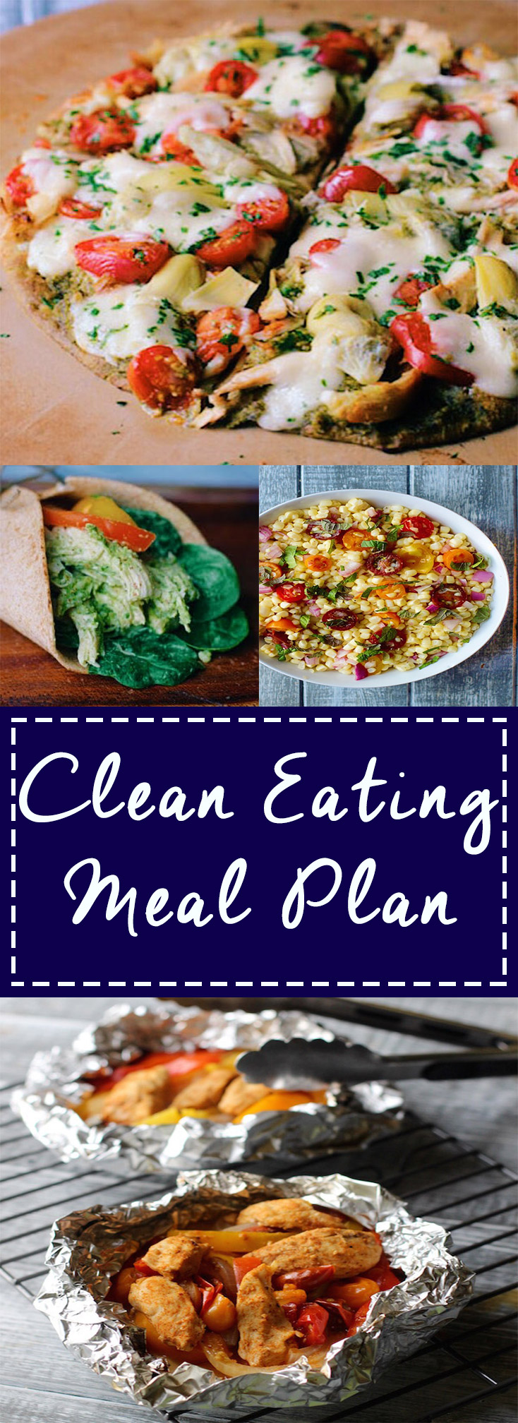 7 day Clean Eating Meal Plan complete with recipes and grocery list!