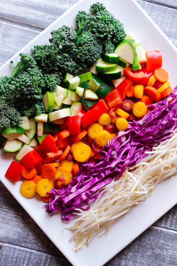 Clean Eating Rainbow Stir Fry