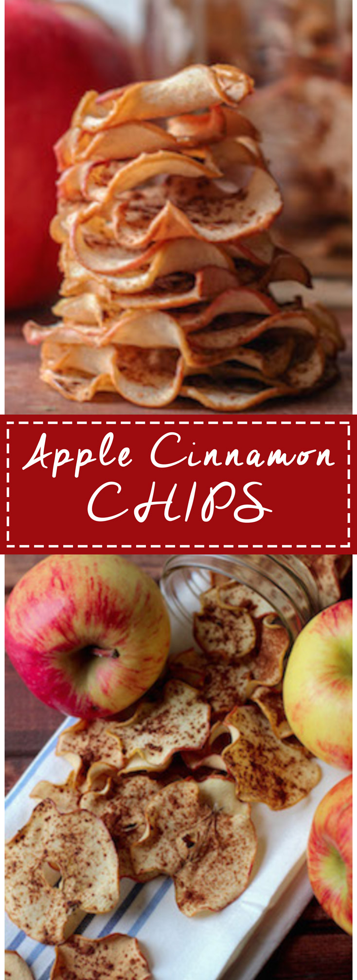 Apple Cinnamon Chips are SOOO easy to make! Perfect snack when you are craving something sweet and crunchy!