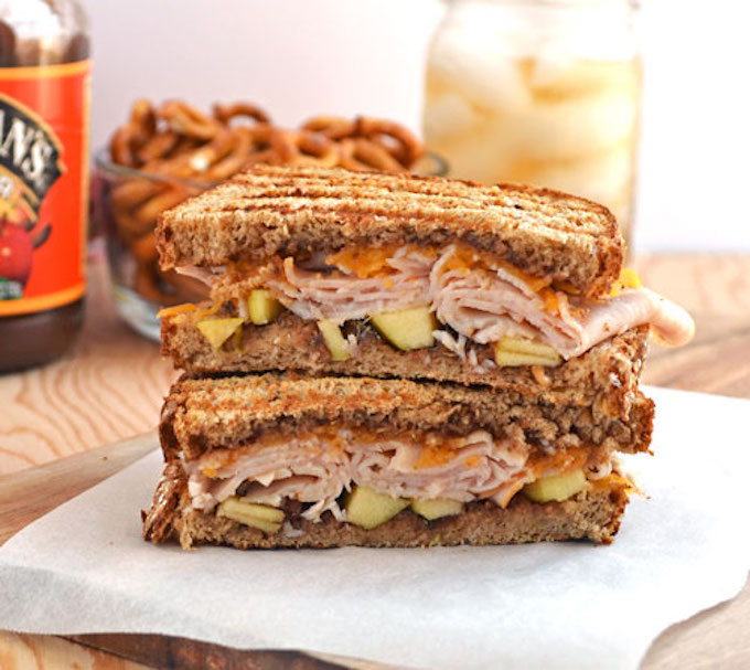 Apple Butter, Turkey, and Cheddar Cheese Sandwich- Well Plated