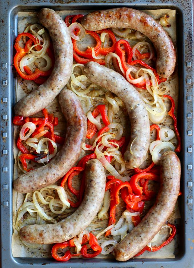 Italian Sausage Hoagie - Sheet Pan Supper. Simple. Delicious. Whole Food.