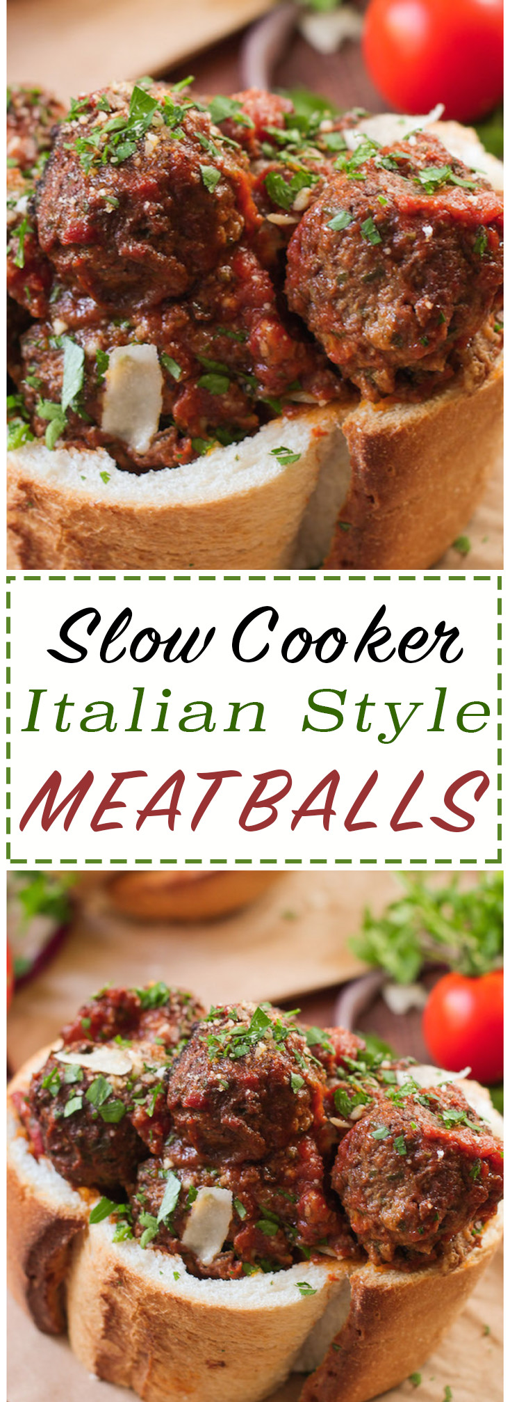 Slow Cooker Italian Meatballs are whole-food friendly, easy, and delicious!