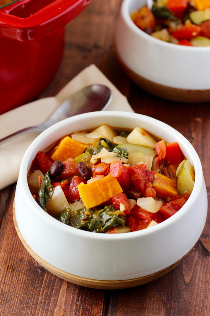 Thick and chunky vegetable soup this thick and chunky vegetable soup is the perfect healthy lunch on a chilly fall day forumfinder Choice Image