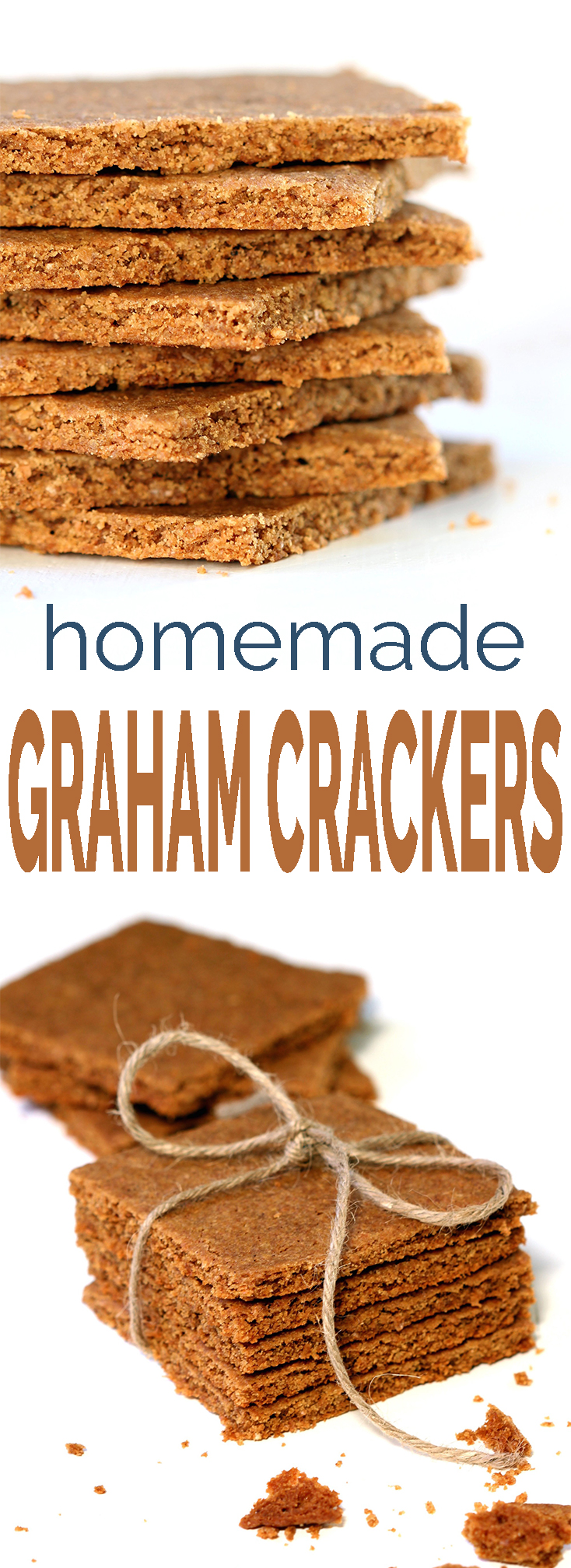 Store-bought graham crackers are full of funky ingredients.. making your own is easy. 9 ingredients, 10 minutes prep and you have light and buttery homemade graham crackers!