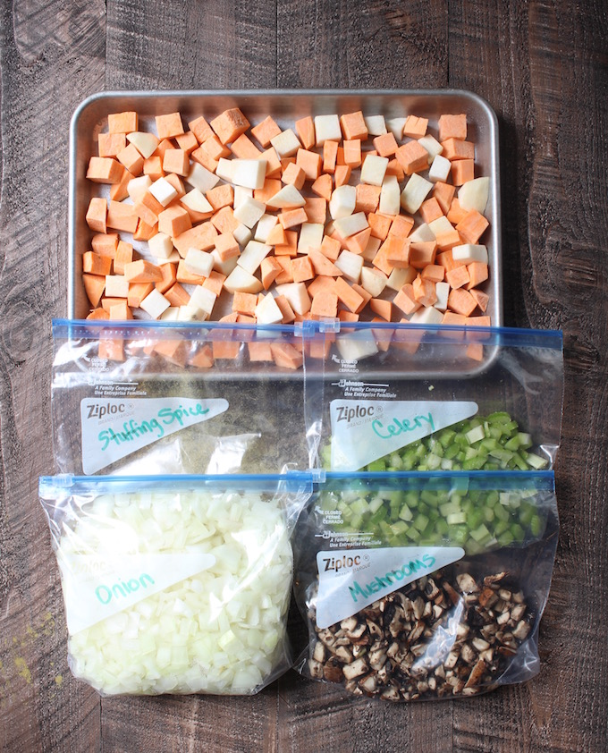 Savory Gluten-Free Stuffing Prep Ingredients