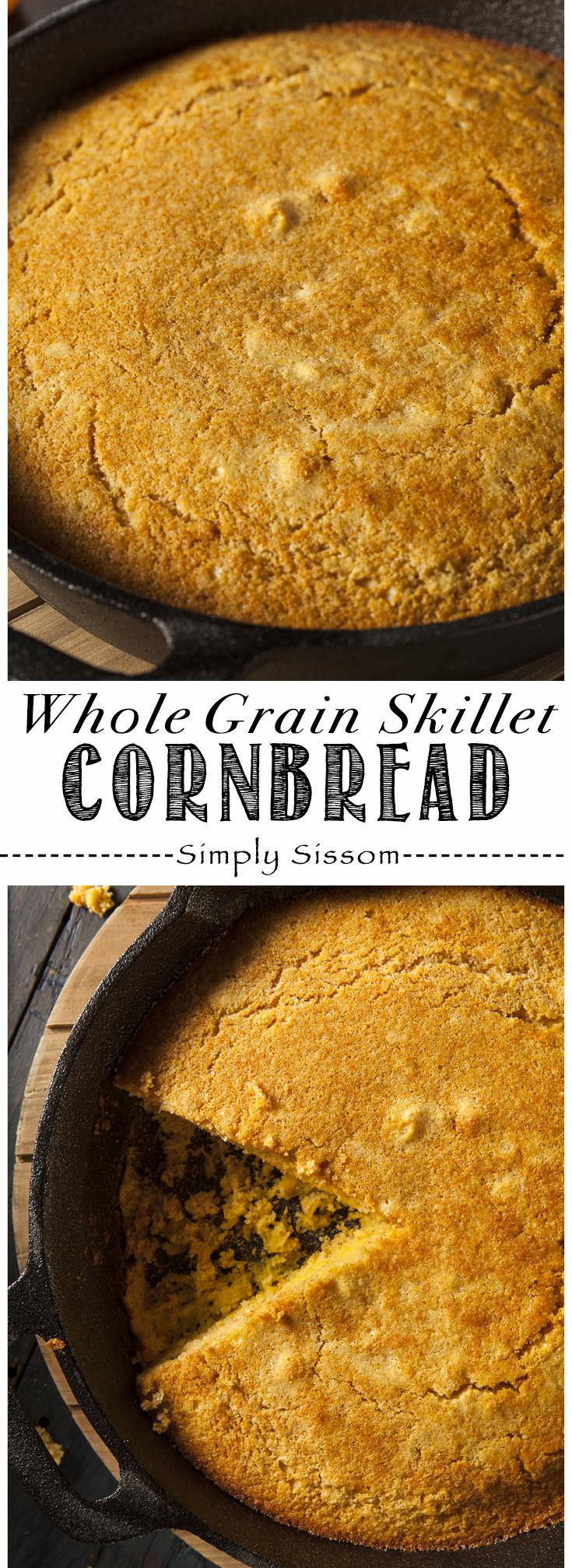 Whole Grain Skillet Cornbread Pinterest