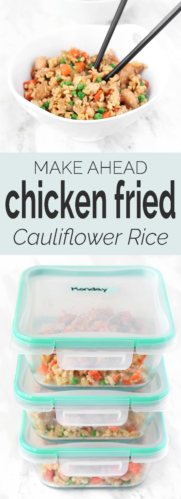 Chicken Fried (CAULIFLOWER) Rice has all the flavor of take-out without any of the carbs, grains, calories or fat. Best part, it comes together in 1 pan and 15 minutes!