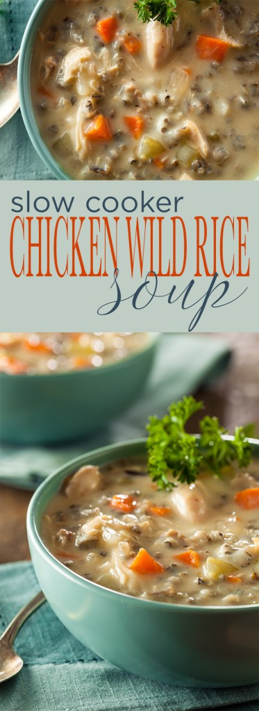 Slow Cooker Chicken and Wild Rice Soup is simple to make, requiring less than 10 ingredients and very little hands on prep. A hearty and comforting soup that's perfect for Fall and Winter.