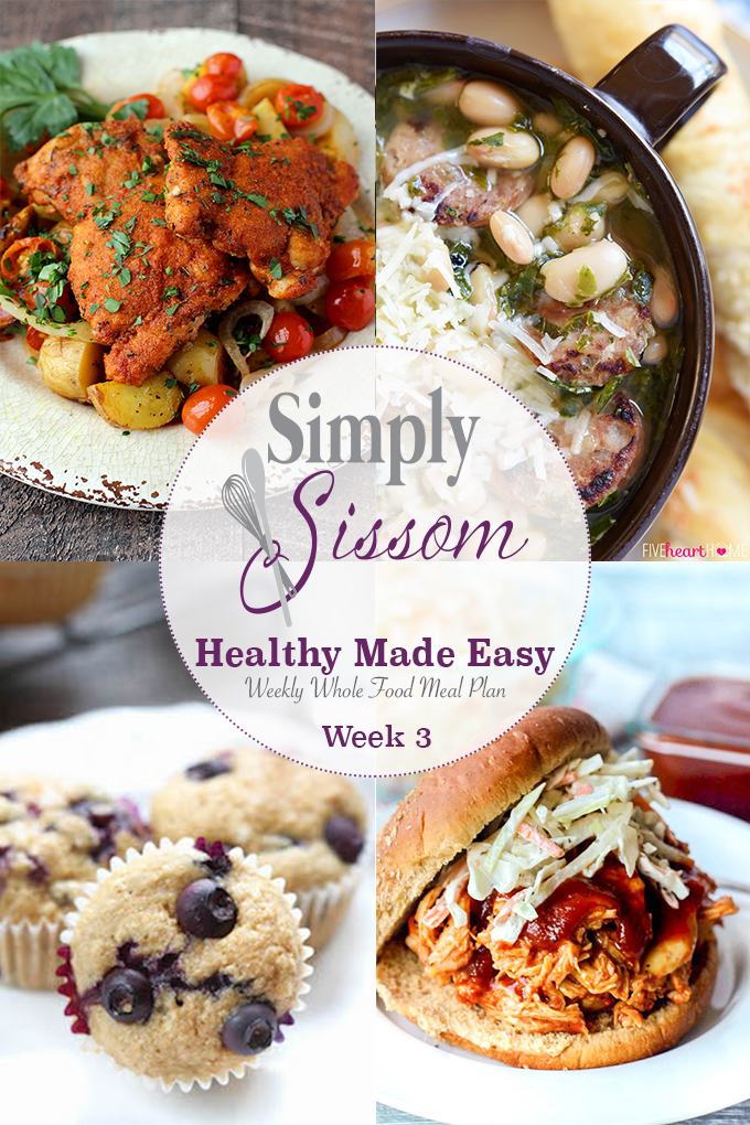 weekly meal plan healthy made easy 4 simply sissom