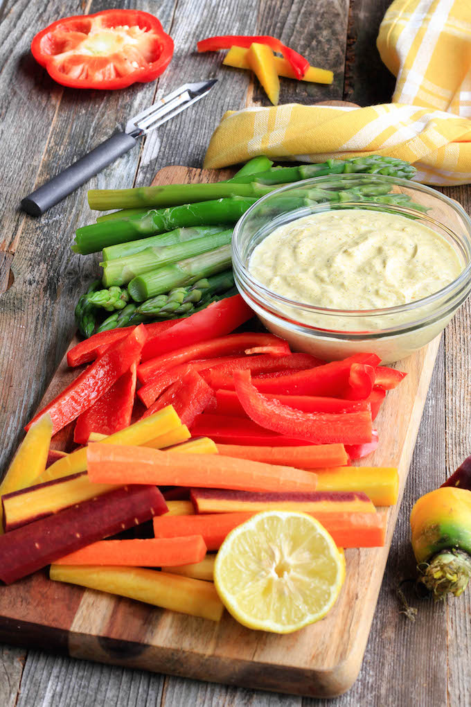 Fresh Asparagus with Curry Dip is simple to make, requiring just 1 bowl, 10 minutes and 4 ingredients. Subbing Greek Yogurt for Mayonnaise gives this classic side-dish a healthy twist.