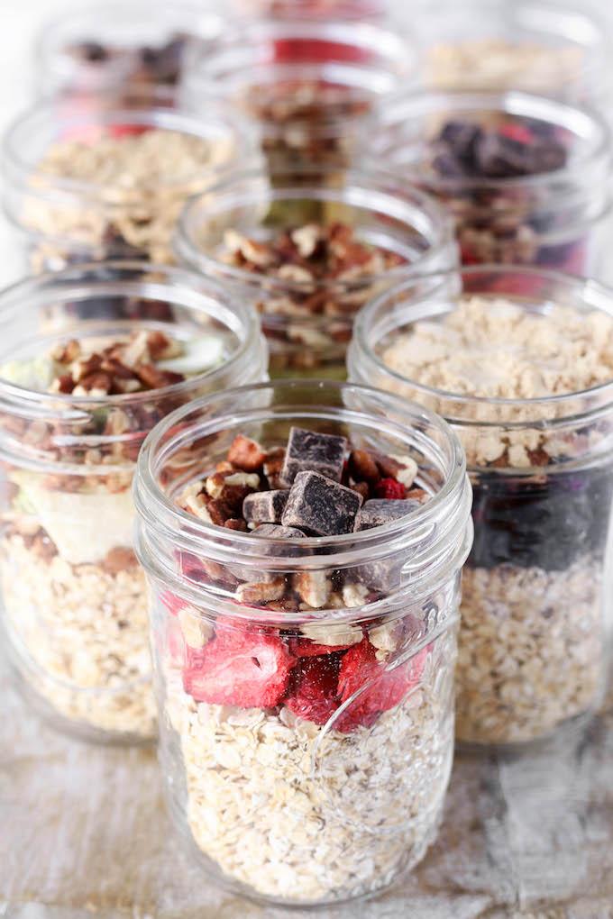 Make-Ahead Instant Oatmeal Jars