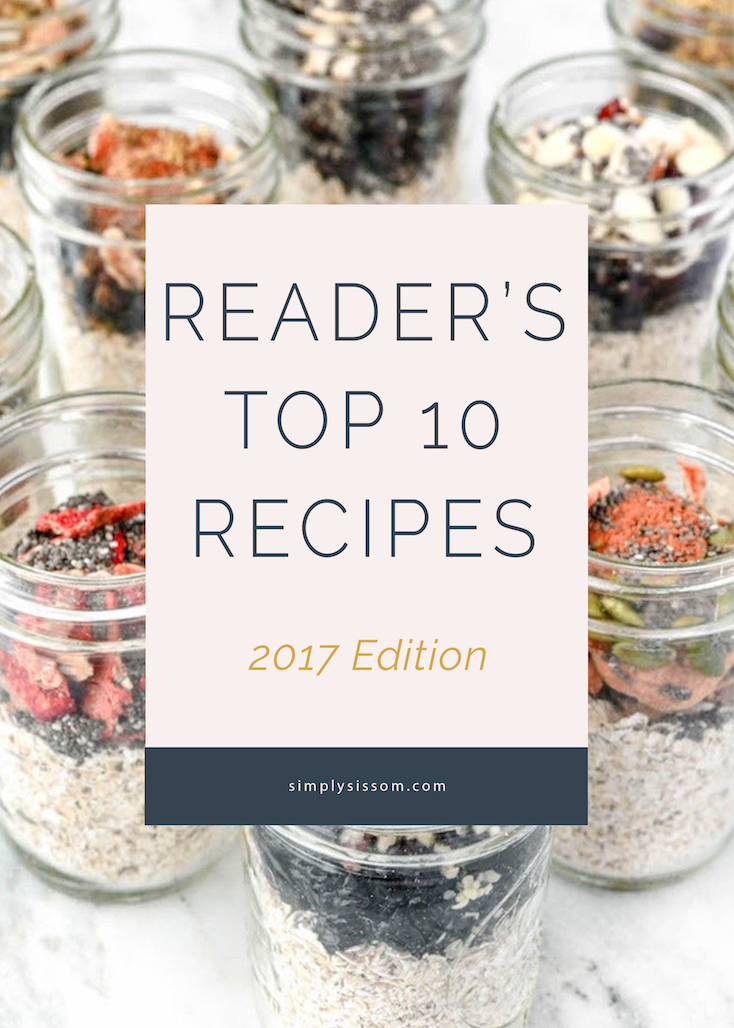A roundup of Simply Sissom's Top 10 Recipes of 2016.