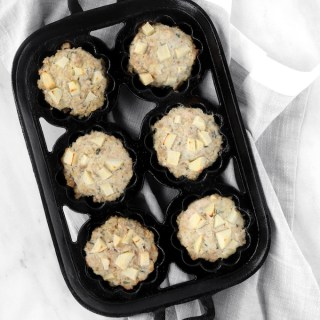 Freezer Friendly Mini Apple-Sage Turkey Meatloaves
