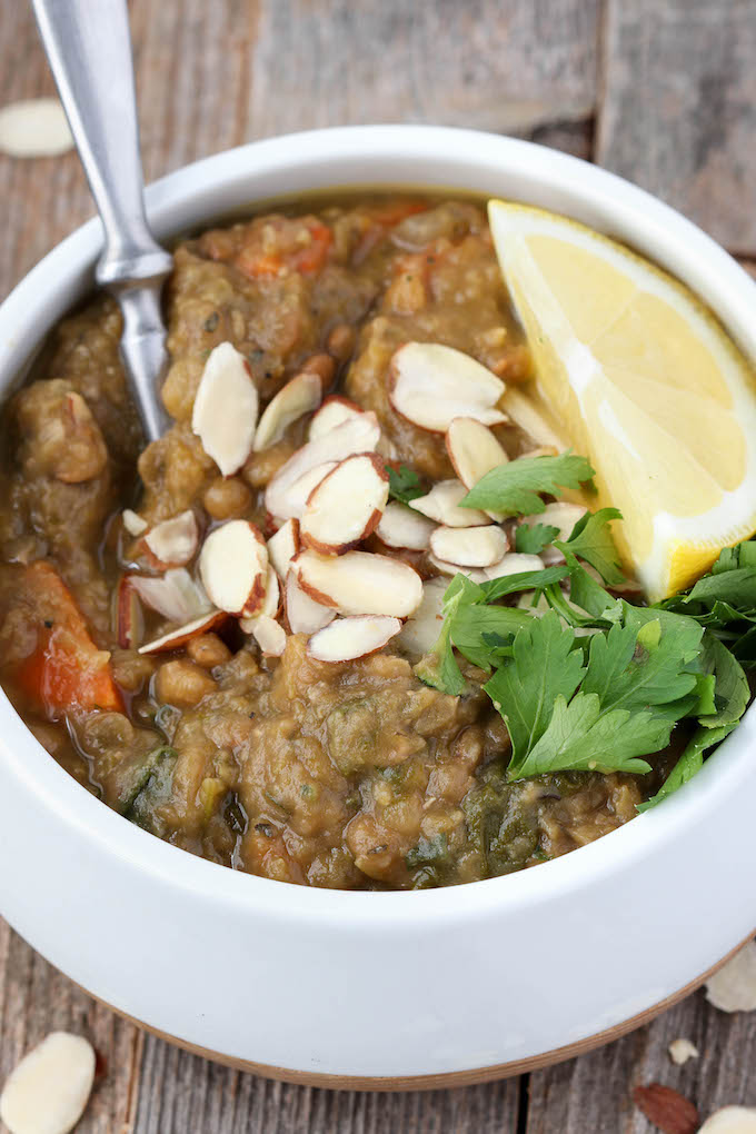 Healthy, nutritious, Detox Lentil Soup made in the crockpot with simple ingredients. Perfect addition to a real food reset!