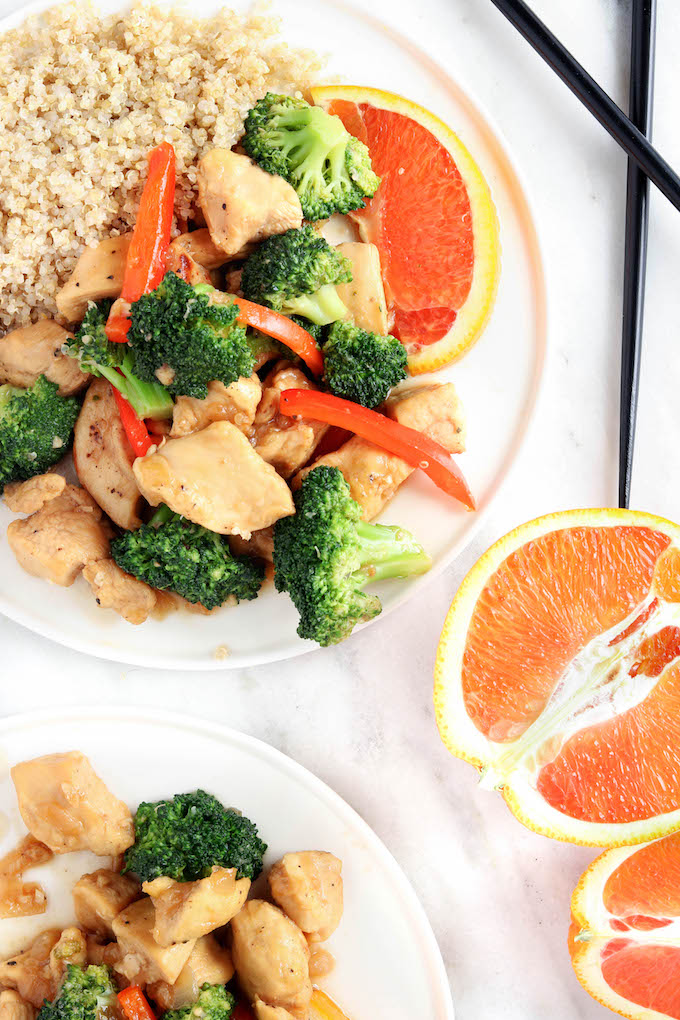30-Minute General Tso's Orange Chicken is sweet and spicy with a splash of orange. Quick cooking time and prep-ahead options make this the perfect healthy weeknight dinner.