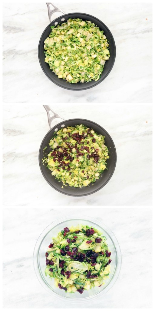 A healthy Cranberry Brussel Slaw loaded with fresh veggies, sweet apples and dressed in a simple lemon and olive oil dressing! Crisp, refreshing and comes together in 15 minutes.