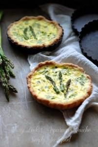 baked asparagus quiche tarts
