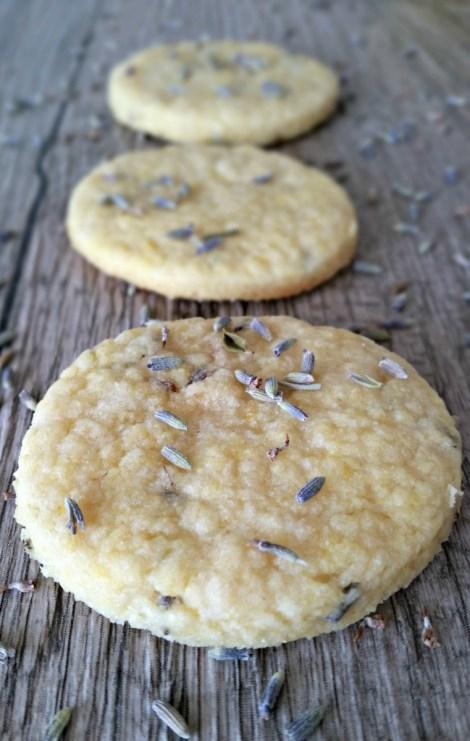 Lavender & Lemon Shortbread Cookies