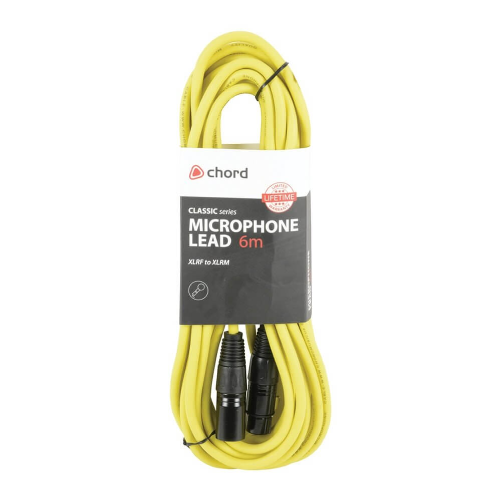 hight resolution of chord 6m professional high quality balanced 3pin xlr cable yellow