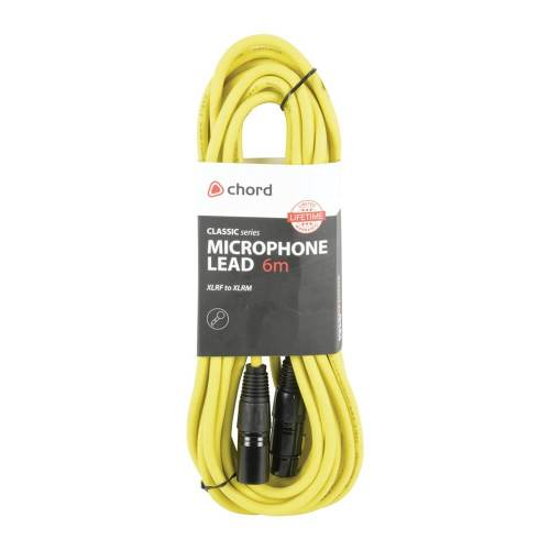 small resolution of chord 6m professional high quality balanced 3pin xlr cable yellow