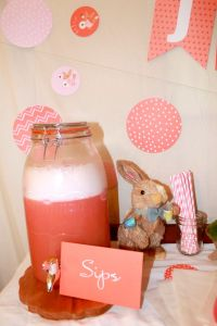 pink punch for baby shower