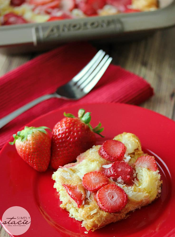 Strawberry & Coconut Breakfast Casserole