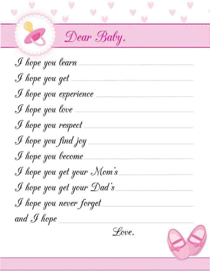 8 free printable baby
