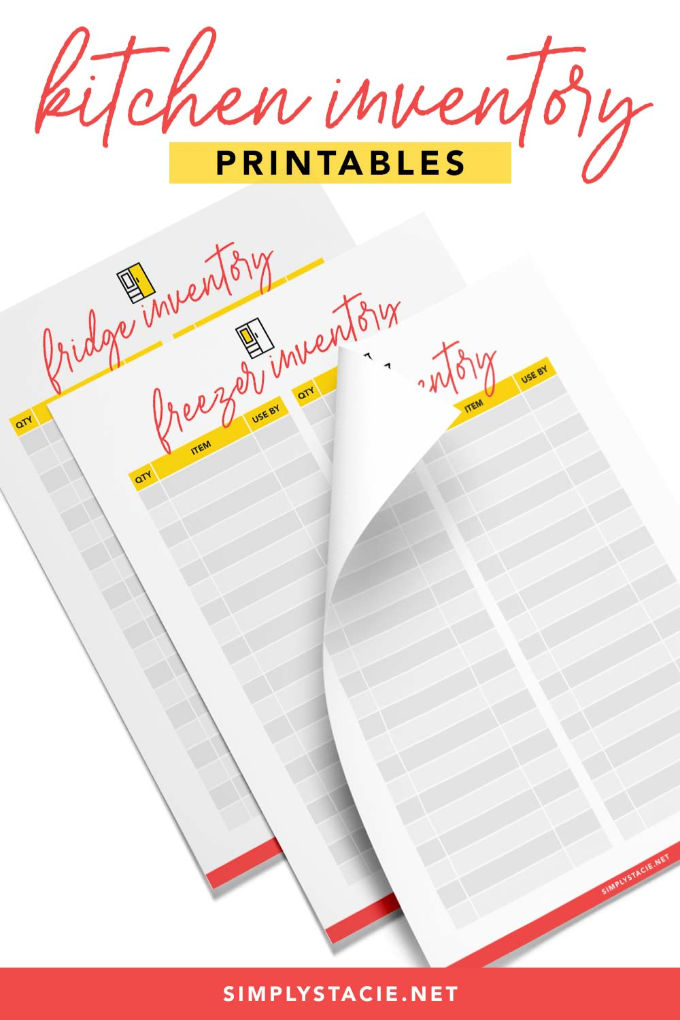 If you are running a restaurant or working in any food restaurant, then this food inventory template is really beneficial for you. Kitchen Inventory Printables Simply Stacie