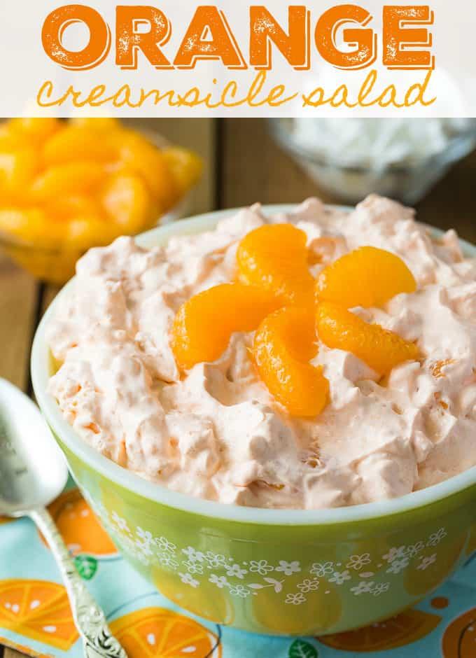 Salad Creamsicle Jello Orange Recipe