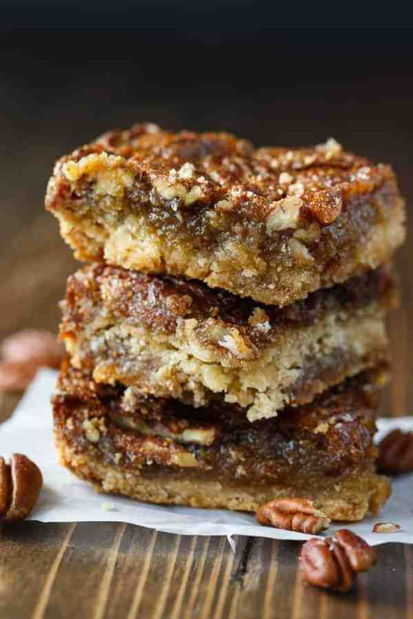 Maple Pecan Squares - So addicting! They are a cross between a butter tart and pecan pie.