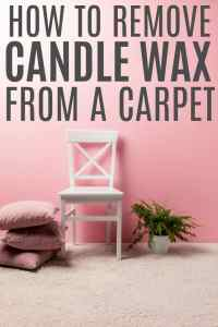 How To Remove Candle Wax From A Carpet - Simply Stacie