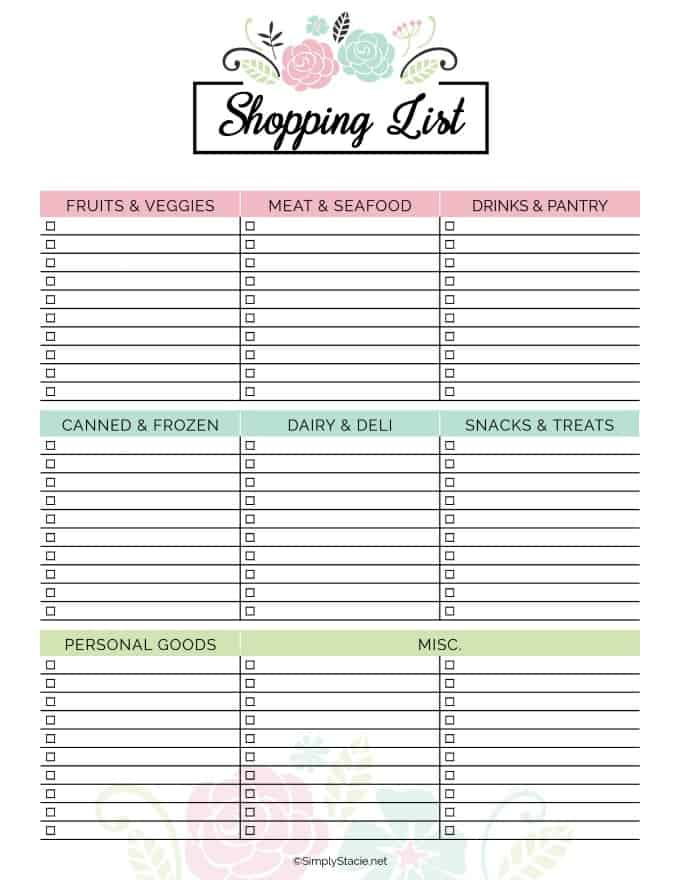 Meal Planning Printables. meal planner printable the ...