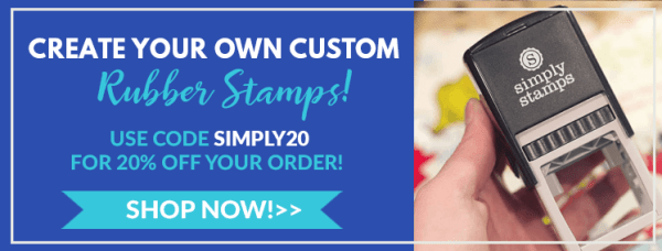 create your own custom rubber stamps, use code simply 20 for 20% off your order