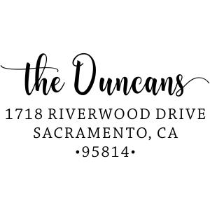Duncans custom address stamp