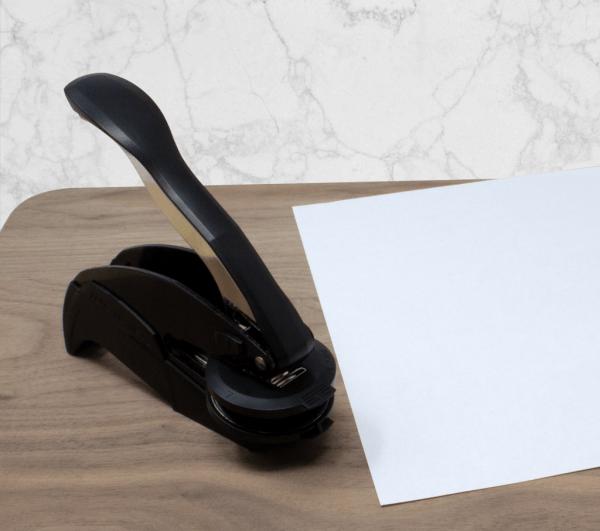embosser-on-desk