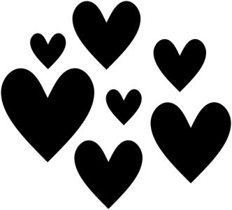 hearts craft stamp
