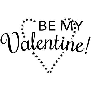 Be my valentine craft stamp