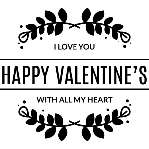i love you with all my heart valentine craft stamp