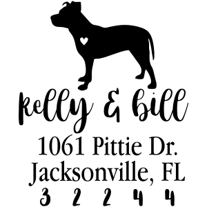American pit bull address stamp