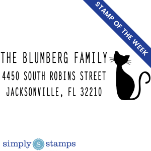 blumberg cat address stamp from simply stamps