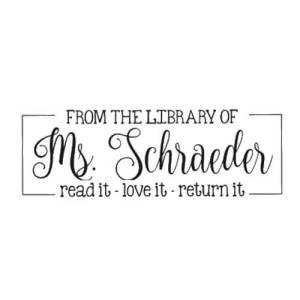 Read it, Love it, Return it Library Stamp