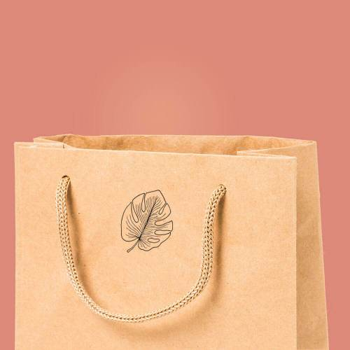 craft stamp on paper bag