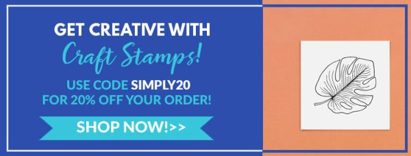 get creative with craft stamps, use code smply 20 for 20% off your order!