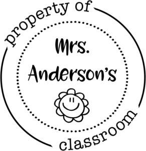 property of teacher stamp