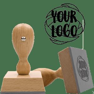 wood handle logo stamp